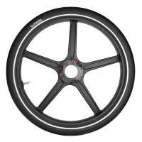 PitstopWheel - Matt Black (Includes Tube and Tyre)