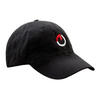 Gocycle Cap – Black Brushed Cotton Twill, Gocycle 'O' Logo